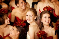 bride and bridesmaids, photo by Jeffrey and Julia Woods