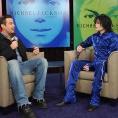 Today in 2001 #MTV's Carson Daly interviews #MichaelJackson on TRL. #MJFAM #Moonwalker #KingOfPop
