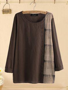 Camisa Regata Casual Zíper de Chiffon Gola em V Sem Costas - NewChic Móvel