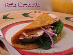 Tofu Omelette whollydeliciousdishes.com #tofu #vegan