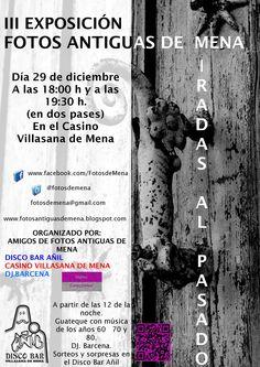 Cartel III Exposición de Fotos Antiguas de Mena