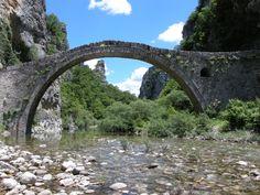 Kokkoros  Bridge at Zagorohoria  in Epirus  - GREECE