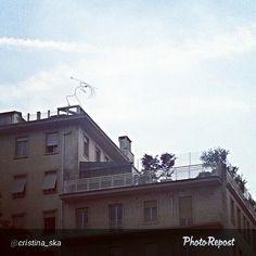 """#Torino raccontata dai cittadini per #inTO. Foto di cristina_ska """"Arte anche negli attici"""""""