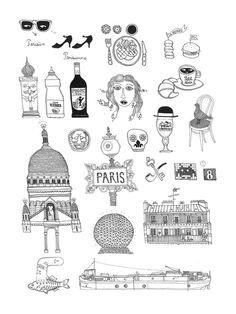 Paris - Illustration réalisée par François Pellan - Numérotée et signée - 18 x 24 cm - Tirage limité à 30 ex. - En exclusivité chez L'illustre Boutique