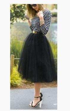 Beautiful Me Black Tulle Tutu Skirt