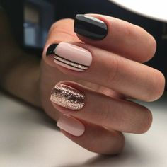 ▷ 1001 + idee per Unghie gel nere - idee manicure da copiare gel unghie - Nails Gel Nail Art, Nail Polish, Acrylic Nails, Acrylic Art, Nail Art Rose, Black Shellac Nails, Glitter Acrylics, Matte Nails, Nail Glitter Powder