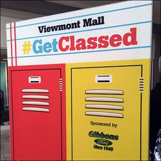 The Back-To-School Mall Lockers campaign continues throughout the Mall with School Lockers as the immediately recognizable visual. Back To School List, School Lockers, Qr Codes, Mall, Locker Storage, Campaign, Coding, Retail, Selfie