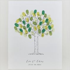 free tree thumbprint guest book printable