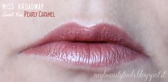 Miss Broadway Smart Kiss Lipstick | Pearly Caramel Swatch #missbroadway #bewe #lipstick #red #rouge #pearlycaramel #caramel  #makeup #beauty #levres #lips #beautyblog #beautyblogger #mybeautytools #LaCocci #beautyreview  http://mybeautytools.blogspot.com/2015/01/miss-broadway-smart-kiss.html