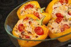 Gevulde paprika met gehakt en geitenkaas