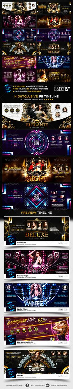 Nightclub V2 FB Timeline Cover. Download .Psd here: http://graphicriver.net/item/nightclub-v2-fb-timeline-cover/6868823 #nightclub #luxury #glamour #deluxe #winter #vip #golden #sensation #electro #techno #dubstep
