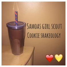 Serves 1 Container Equivalents (per serving): 1 Red, 1 Yellow 1 scoop Chocolate Shakeology 1 cup unsweetened almond milk 1/2 teaspoon caramel extract 1/2 teaspoon coconut extract Ice Blend all ingr…