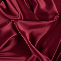 "45"" Wide 100% Silk Charmeuse Dark Red By the Yard"