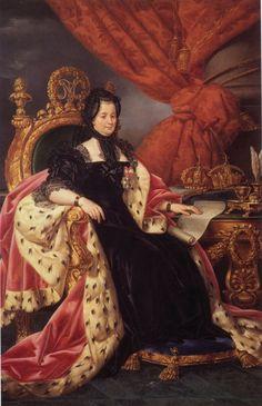 La emperatriz Maria Theresa de Austria en la viudez
