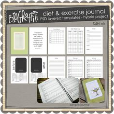 Diet & Exercise Journal..hmm, a cute diet journal?! I could use this with my patients..