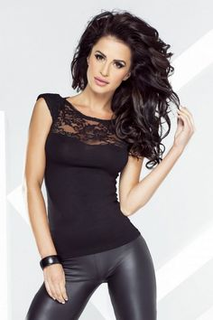 Black blouse with spectacular lace