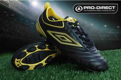 Umbro Cup AG Football Boots Black Yellow