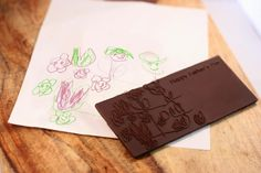 Chocolate bar printed from a child's drawing, Credit: Piq