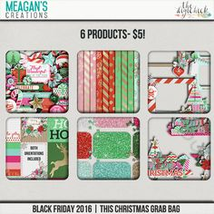 Remember this Christmas and all those other special Christmases by creating a layout with the This Christmas digital scrapbook kit by Meagan's Creations. It is filled with traditional holiday elements in a modern color palette.