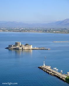 #Bourtzi Fortress, #Nafplio - #Greece Opera House, Greece, Travel, Greece Country, Viajes, Trips, Traveling, Tourism, Opera