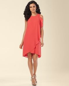 I lik ethis movement, but wrong color... and it's a dress... Soma Intimates Muse Cascade Ruffle Dress #somaintimates