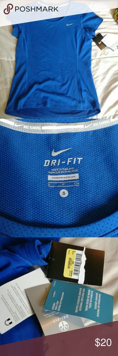 Nike dri-fit shirt Small size, new, never worn. Tags attached. Blue, lightweight. Nike Tops Tees - Short Sleeve