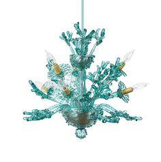 Corallo Piccolo : Small aquamarine Venetian glass coral chandelier  #projectnursery #franklinandben #nursery