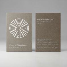 Pedro Pereira Psychologist Branding by MusaWorkLab , via Behance Business Branding, Business Card Logo, Business Card Design, Psychology Symbol, Brochure Design, Logo Design, Design Art, Brain Logo, Visiting Card Design