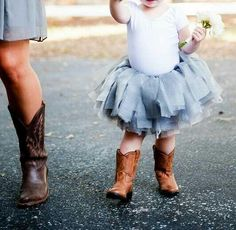 Flower girl, tutu and boots!