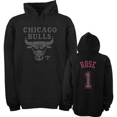 b617b12f7 Derrick Rose Chicago Bulls Youth Black Out Name   Number Hoodie by Majestic  Celtics Apparel