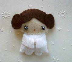 Star Wars Princess Leia doll felt brooch by lafeecrochette on Etsy, $30.00