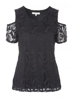 9b469cd185 Make an elegant addition to your day to night wardrobe with this women's black  lace cold