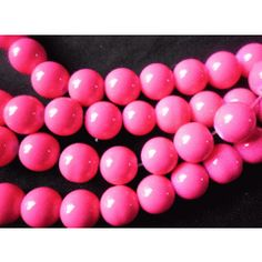 Electric Pink Opaque Glass Rounds - Per String of /- for Bead Shop, Electric, Shops, Beads, Pink, O Beads, Tents, Retail, Bead