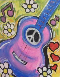 hippie guitar