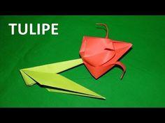 Tuto fleur de tulipe origami. Cette démonstration propose un modèle de composition florale en papier très décoratif et relativement simple à réaliser. Il s'effectue au moyen de deux feuilles de papier distinctes dont l'une forme la fleur et l'autre la tige. Une fois les pliages de chaque élément réalisés, le haut de la tige s'insère dans l'orifice situé à la base des pétales pour former une fleur décorative à poser.