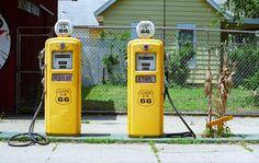 Route 66 - Illinois Gas Pumps Photograph