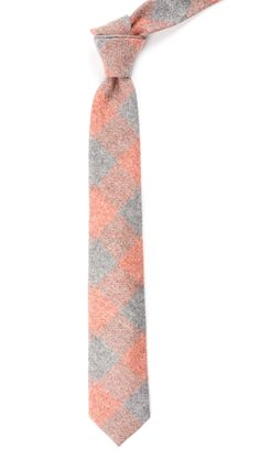 Printed Flannel Checks - Orange | Ties, Bow Ties, and Pocket Squares | The Tie Bar