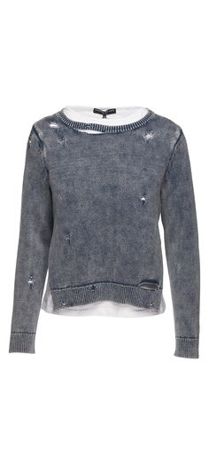 Generation Love Double Layer Sweater With Holes in Indigo / Manage Products / Catalog / Magento Admin