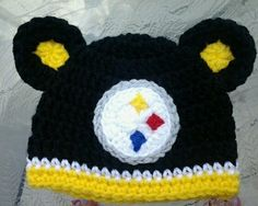 Baby girl boy toddler child newborn PITTSBURGH STEELERS Crocheted Hat beanie  on eBay! Crochet Girls 038d430f7