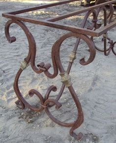 Wrought Iron Table Base | Recycling the Past - Architectural Salvage