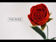 (42) Felt Flower Tutorial DIY: A ROSE (simple + easy!) A Flower Making DIY How-To Video - YouTube