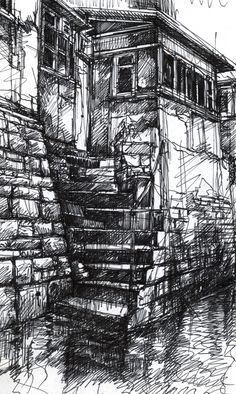 Tai O » Ian Murphy Sketchbooks Architecture Sketchbook, Art Sketchbook, Art And Architecture, Landscape Sketch, Urban Landscape, Art Sketches, Art Drawings, Building Art, Building Drawing