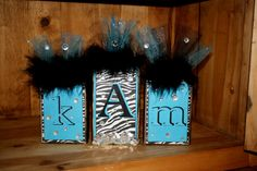 Personalized Customized Wooden Name Blocks by PeaceGlitznGlam, $12.00