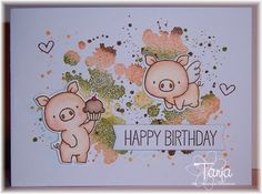 MFT Hog Heaven Stamps and Die-Namics, Distress Patterns Stamps and Sweet Succulents Stamps