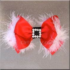 Ideas For Diy Christmas Bows Etsy Holiday Hair Bows, Christmas Bows, Hair Ribbons, Ribbon Bows, Barrettes, Hairbows, Baby Hair Bows, Making Hair Bows, Diy Bow