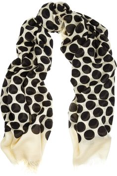 Marc Jacobs scarf  White with large black polka dots