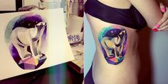 Colourful and cosmic 3D tattoos by artist Sasha Unisex » Lost At E Minor: For creative people