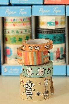Zoo Animal Washi Tape Multi Pack Various Sizes by SpudgyStationery, £3.00