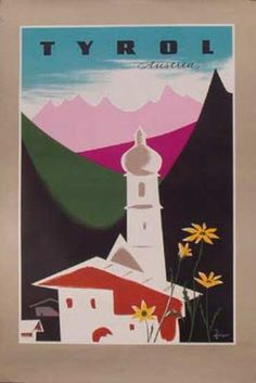 vintage tyrolean travel poster
