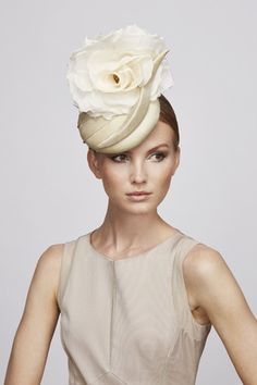 Champagne Flower cocktail hat | Juliette Botterill Millinery SS 2014 #FashionSerendipity #hats #millinery